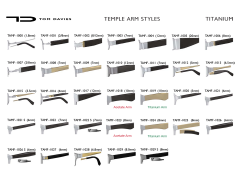 ◤TEMPLE ARM STYLES